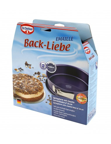 Tortownica 26x8 cm Back-Liebe Emaille