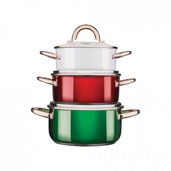 VERLONI Zestaw garnków Viva Italia, 6 elementów