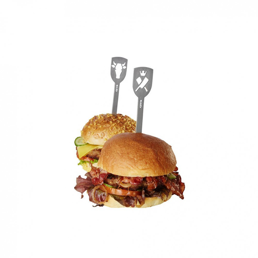GEFU Szpikulce do hamburgerów TORRO, 2 szt. byk, młot Gefu