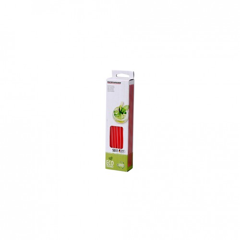 FACKELMANN Słomki proste BIO 23/0,6cm biało-czerwon
