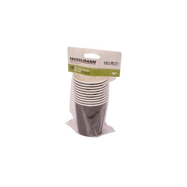 FACKELMANN Kubki papierowe 250 ml jasny brąz