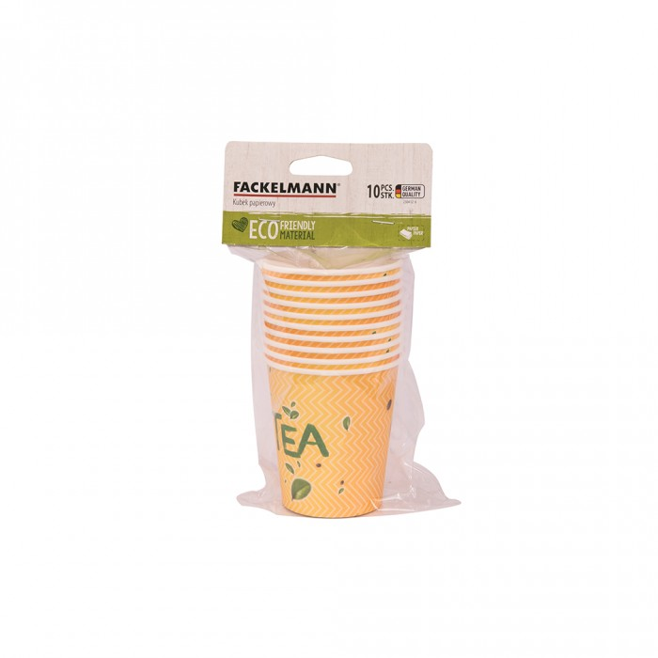 FACKELMANN Kubki papierowe 250 ml żółte