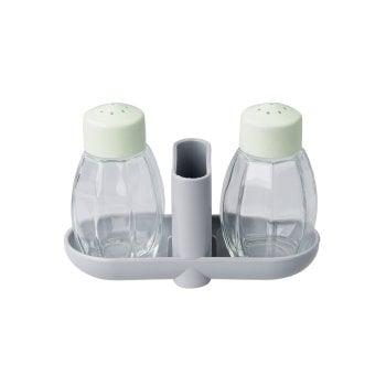 FACKELMANN Zestaw solniczka pieprzniczka i pojemnik na wykałaczki
