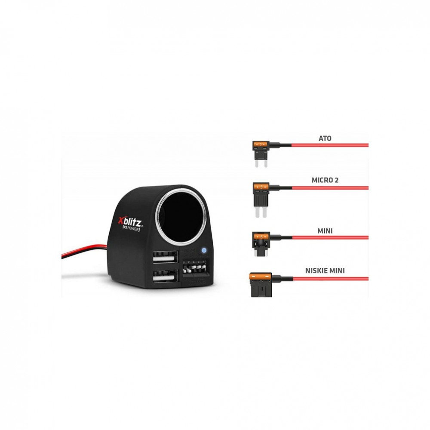 XBLITZ R5 POWER Inteligenty zasilacz kamery samochodowej