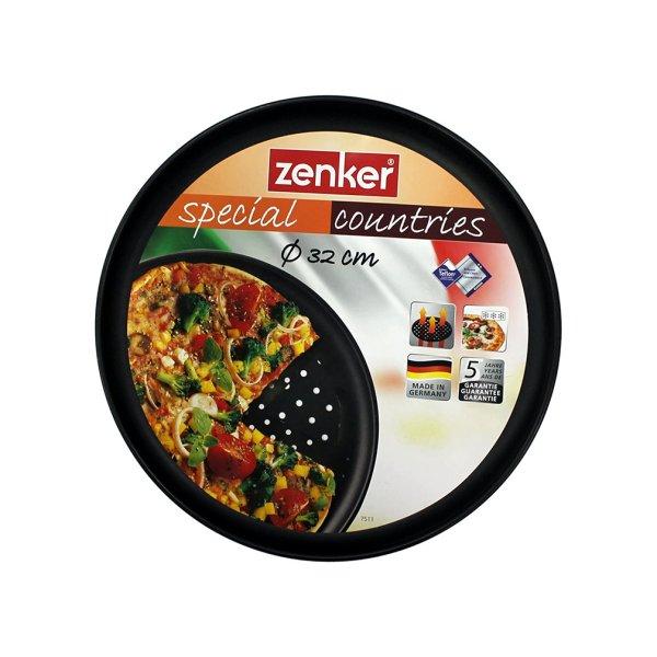 ZENKER Forma do pizzy perforowana 32 cm