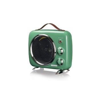 Termowentylator elektryczny Vintage, zielony