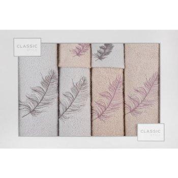 Komplet ręczników NADIA z haftem o gramaturze 380 gsm g/m2