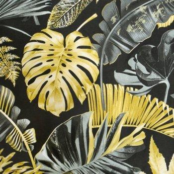 Komplet pościeli DORADO z wysokogatunkowej satyny bawełnianej z motywem egzotycznych liści, 160 X 200 cm, 2 szt. 70 X 80 cm