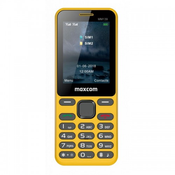 CLASSIC MM139 żółty telefon komórkowy