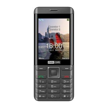 CLASSIC MM236 czarno-srebrny biznesowy telefon komórkowy