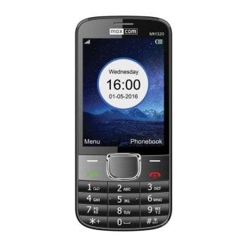 CLASSIC MM320 czarny telefon komórkowy