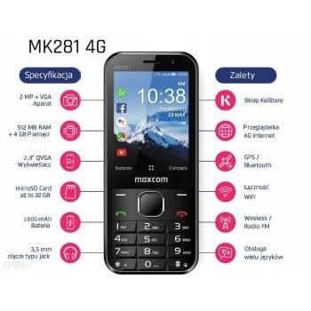 MK281 4G KaiOS telefon komórkowy