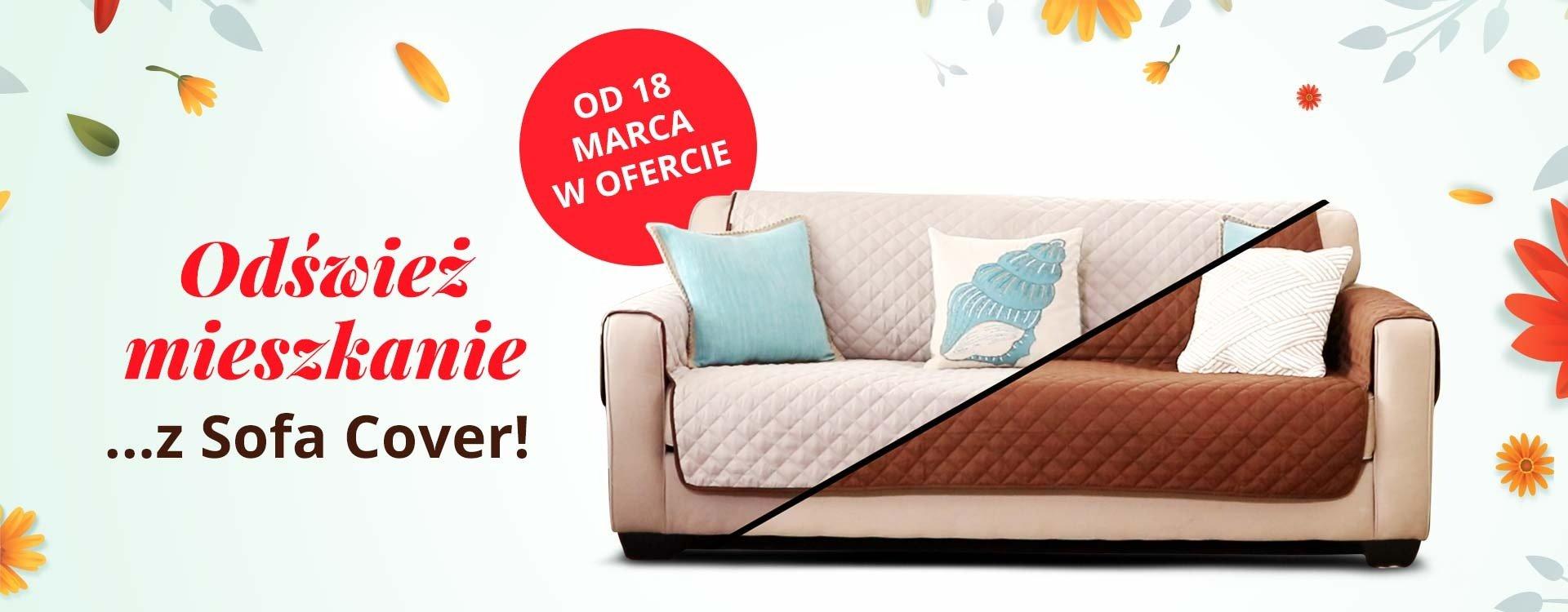 Odśwież mieszkanie na wiosnę. Zmień wnętrze salonu z narzutą na sofę!