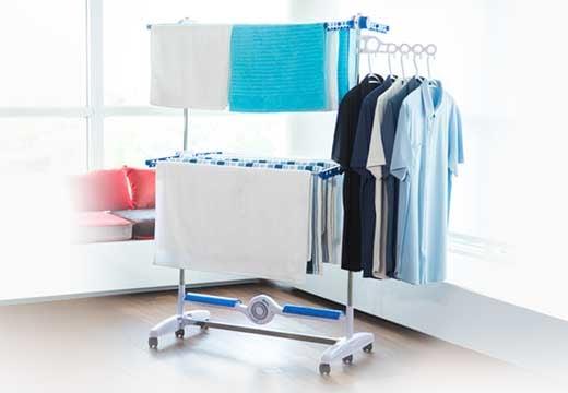 Idealne rozwiązania do małego mieszkania. Suszarka elektryczna na pranie NuBreeze